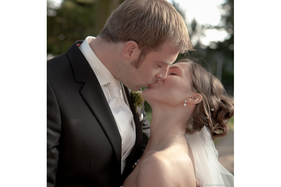 wedding kiss by picture-me-beautiful-photography-uk