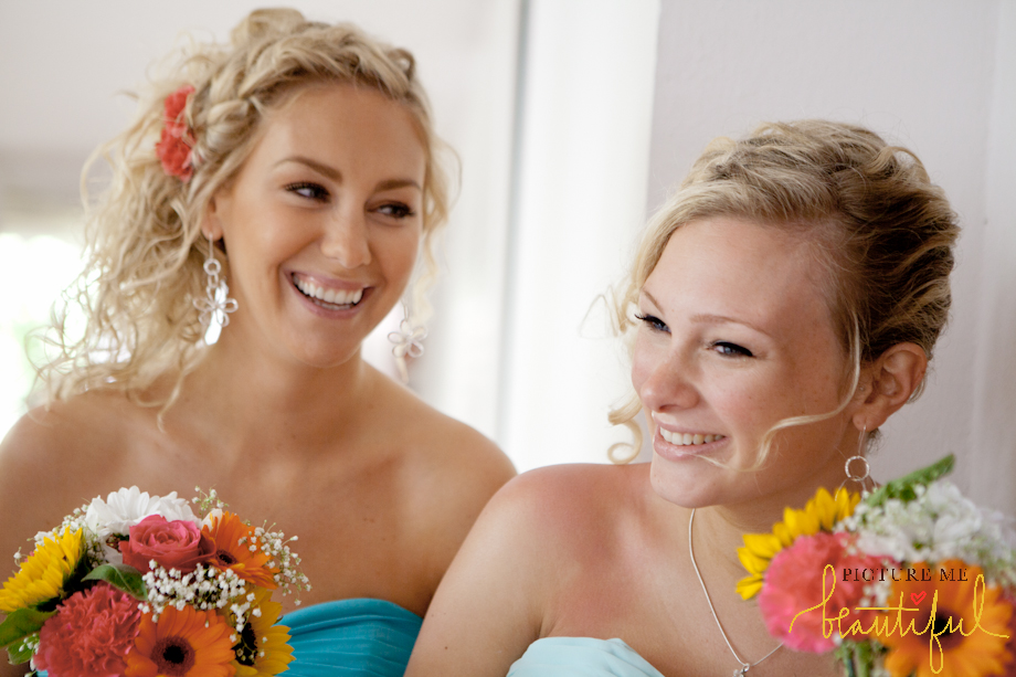 bridesmaids having fun by Picture Me Beautiful Wedding Photography & Film UK