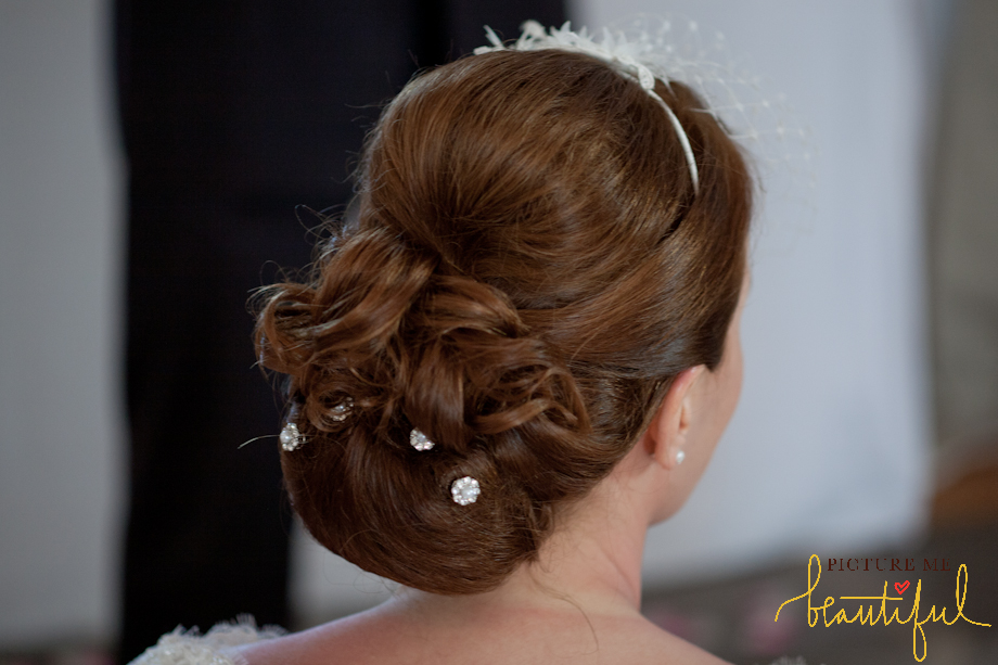 vintage bridal hairstyle by